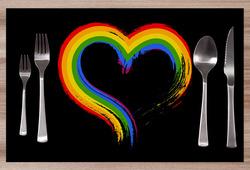 Prostírání LGBT Heart