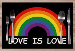 Prostírání LGBT Rainbow