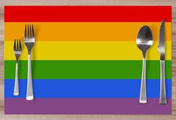 Prostírání LGBT Stripes