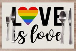Prostírání LGBT Love is love