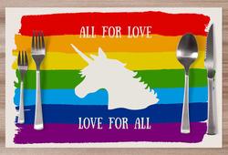 Prostírání LGBt Unicorn