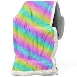 Deka s beránkem Rainbow stripes
