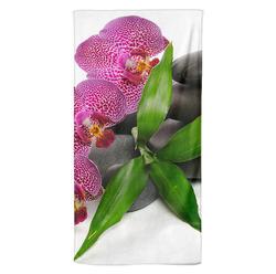 Osuška Orchidej na kamenech 70x140