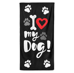 Osuška I love my dog