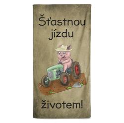Osuška Prasátko a traktor