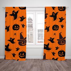 Závěsy Halloweenský vzor 2