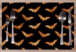 Prostírání Halloween bats