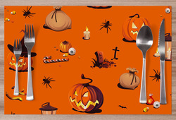 Prostírání Halloweenský vzor 1