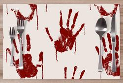 Prostírání Bloody hands