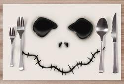 Prostírání Skeleton face