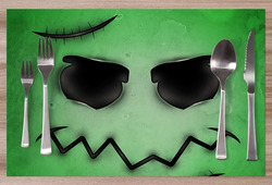 Prostírání Zombie face