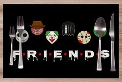 Prostírání Friends horror edition