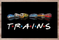 Prostírání Trains