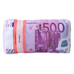 3D polštář Bankovky 500€