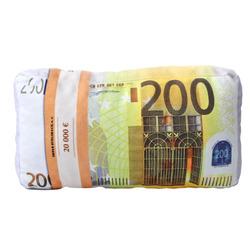 3D polštář Bankovky 200€