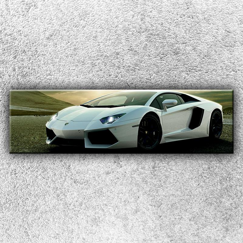 Foto na plátno Stříbrné Lamborghini 1 140x40 cm