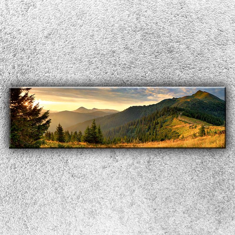 Foto na plátno Slunné hory 1 140x40 cm