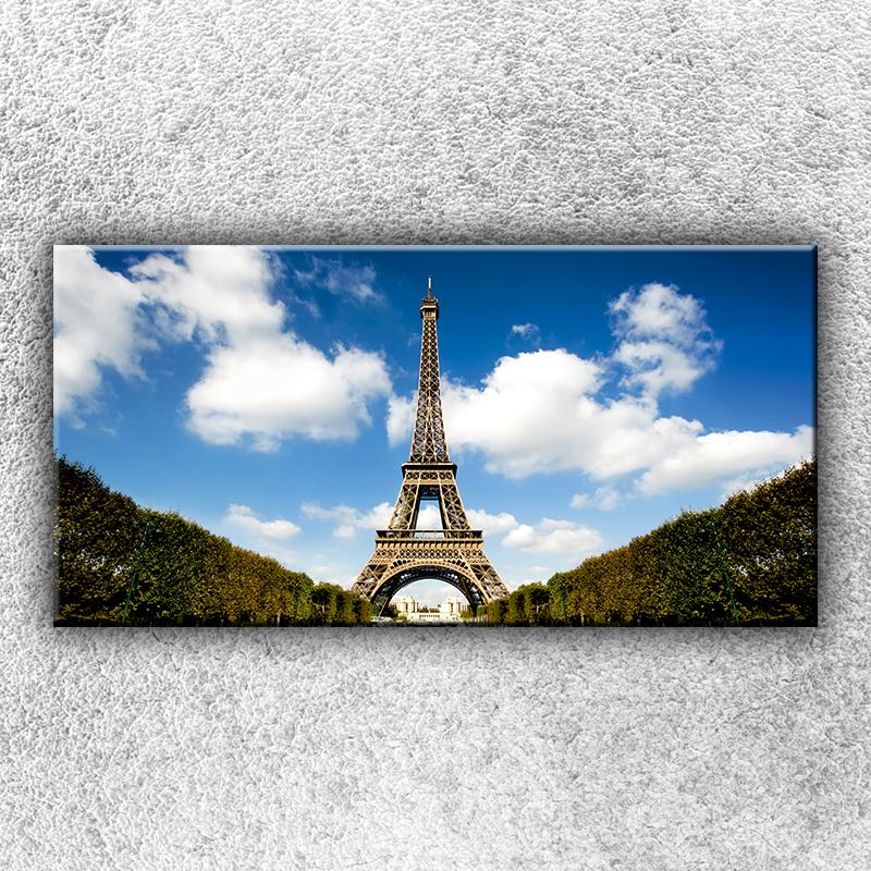 Foto na plátno Eiffelovka 100x50 cm