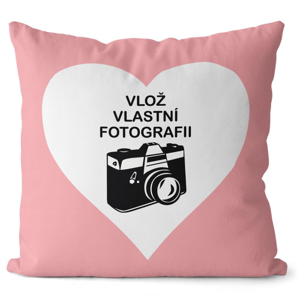 Fotopolštář Srdce 55x55 cm