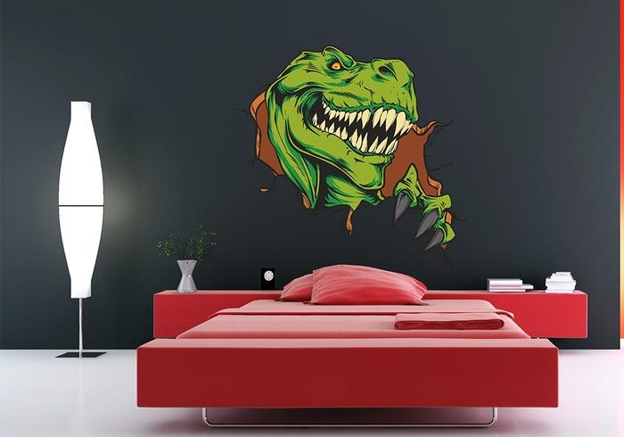 IMPAR Samolepka na zeď Tyrannosaurus (Velikost: 120 x 116 cm)