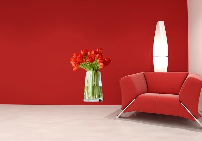 IMPAR Samolepka na zeď Váza s tulipány (Velikost: 60 x 46 cm)