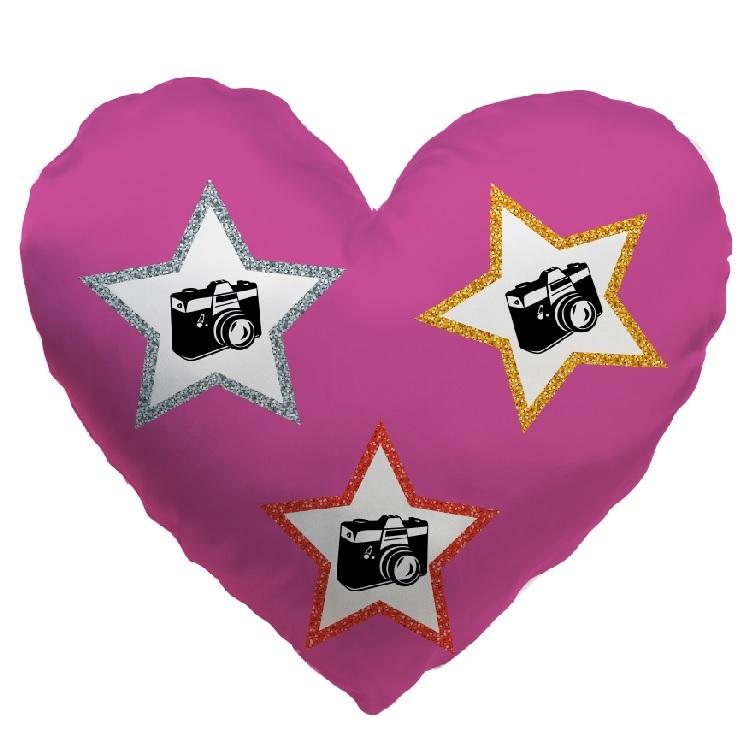 Fotopolštář srdce (70x70) Hvězdy