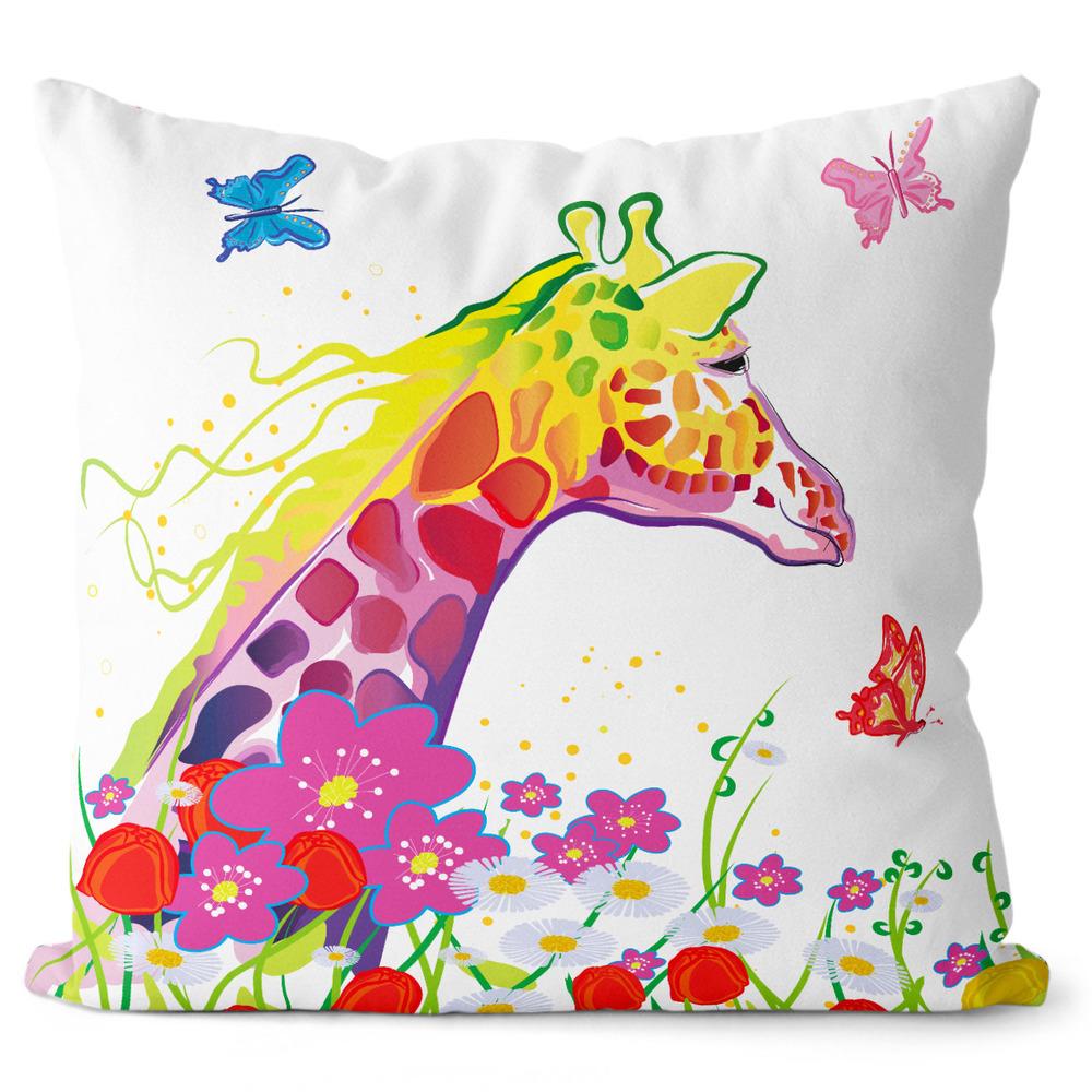 Polštář Žirafa art