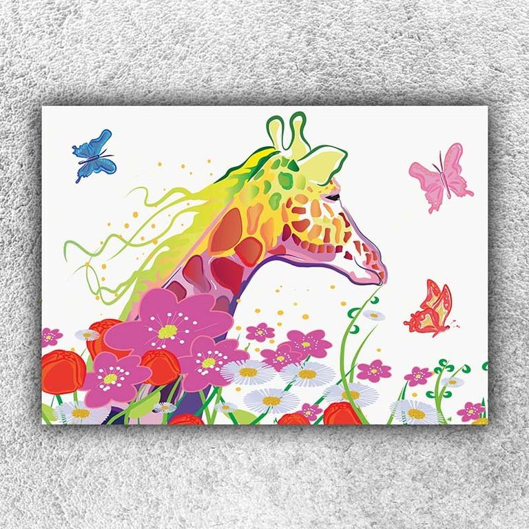Foto na plátno Žirafa art 120x80 cm