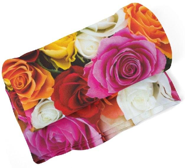 Levně Deka Barevné růže (Rozměr : 200 x 140 cm)