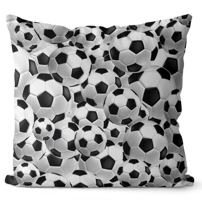 Polštář Fotbalové míče (Velikost: 40 x 40 cm)