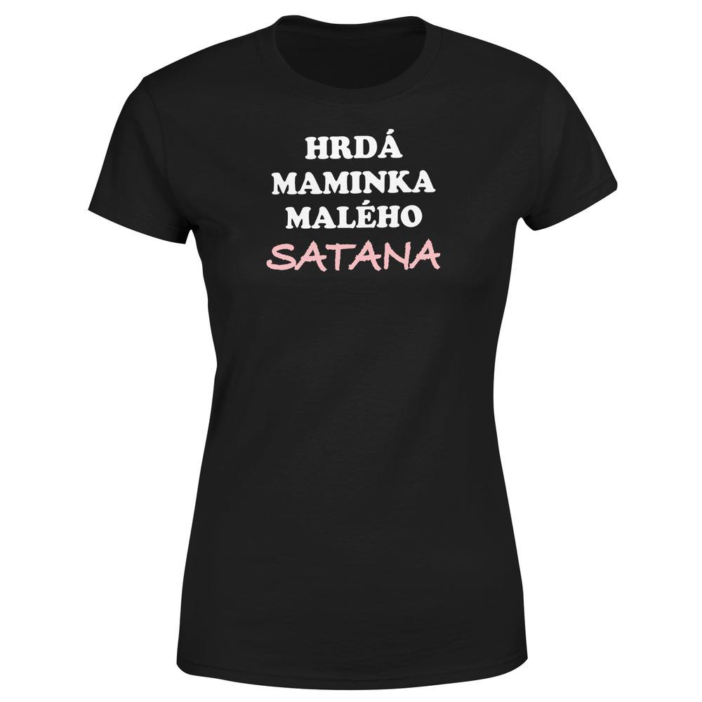 Levně Tričko Maminka satana (Velikost: XS, Barva trička: Černá)