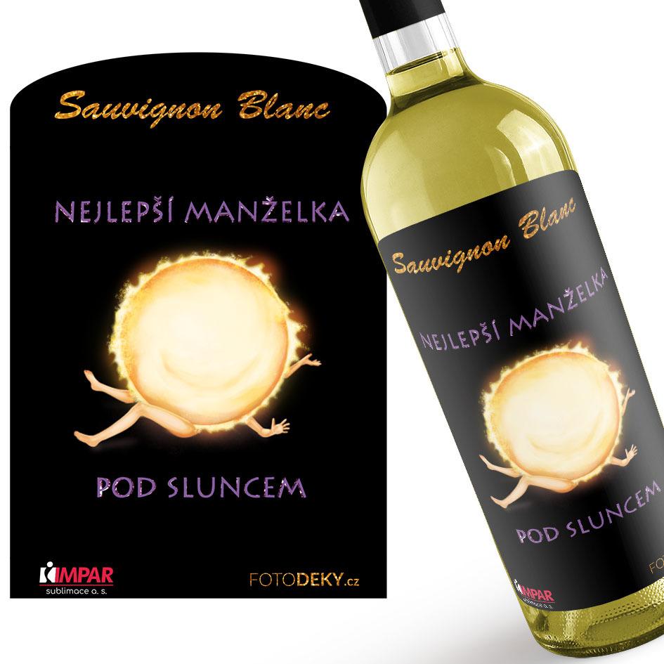 Levně Víno Nejlepší manželka pod sluncem (Druh Vína: Bílé víno)
