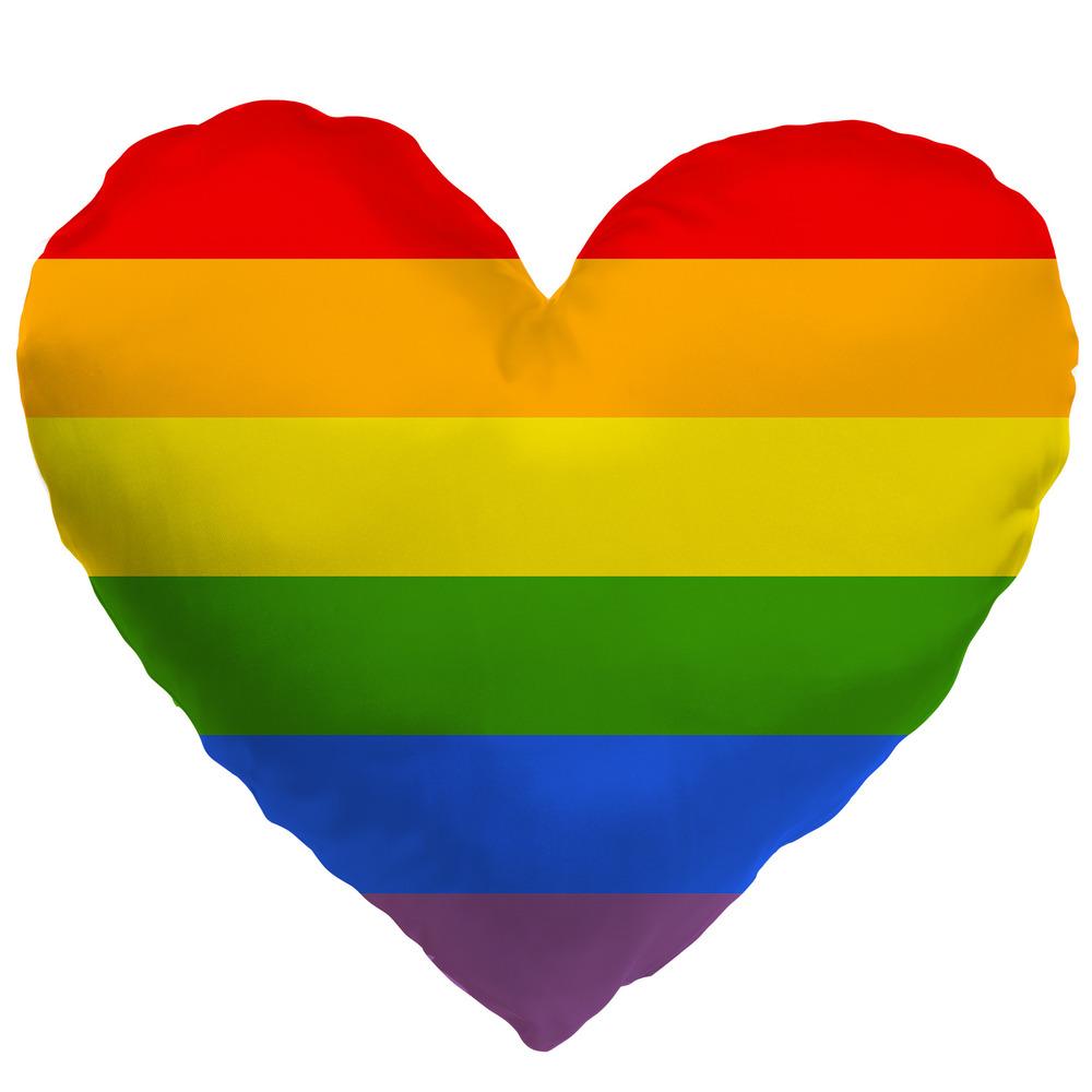 Polštářek srdcový LGBT Stripes