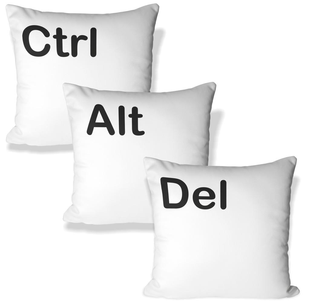 Sada tří polštářků – Ctrl + Alt + Del