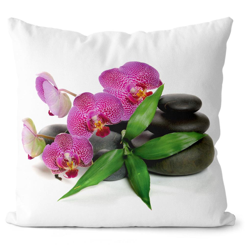 Polštář Orchidej na kamenech