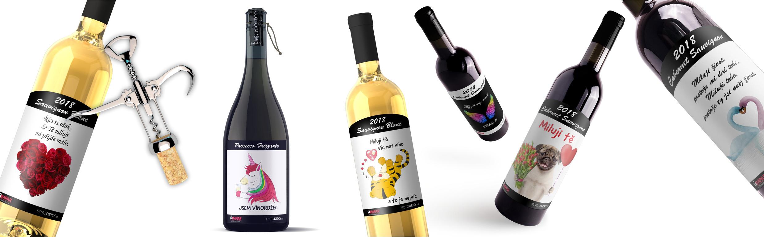 Vína s originální etiketou
